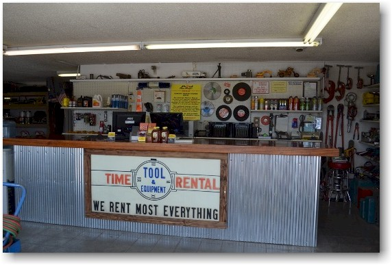 Front of Shop counter and old sign use on home page