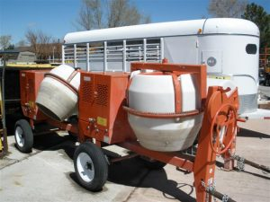 Contractor homeowner equipment, cement barrell mixer