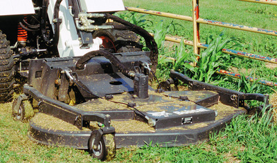 Bobcat Tiller attachment and weed mower or brush attachment